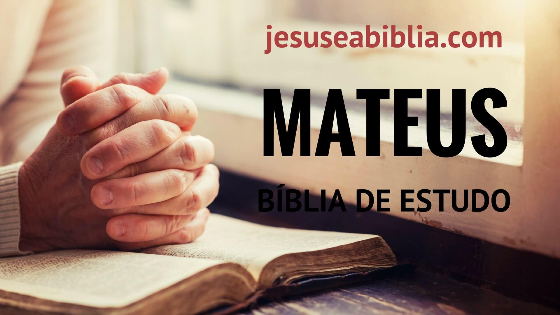 Mateus - Bíblia de Estudo Online