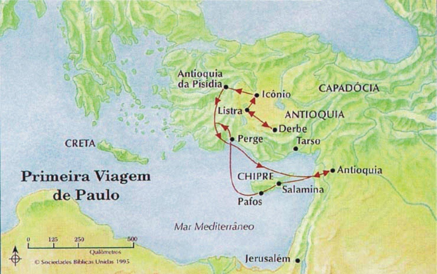 Primeira Viagem Missionária de Paulo - Atos 13