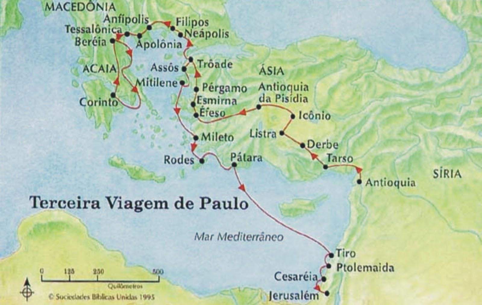 Atos 18 - Terceira Viagem Missionária de Paulo
